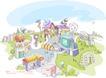 线条城市风景0010,线条城市风景,人物,创意 科学 场馆