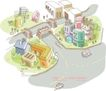 线条城市风景0019,线条城市风景,人物,街道