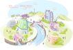 线条城市风景0029,线条城市风景,人物,信号 接收 流动