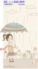 线条风情侣生活0003,线条风情侣生活,人物,下雨 打伞 围巾