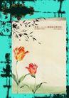 绚彩花纹背景0007,绚彩花纹背景,人物,花框 横伸 叶尖