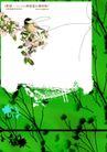 绚彩花纹背景0022,绚彩花纹背景,人物,妖娆 鸟雀 精致