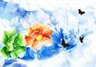绚彩花纹背景0043,绚彩花纹背景,人物,黑蝶 飞舞 花丛