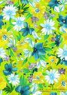 艳丽色花纹0013,艳丽色花纹,人物,繁花 蓝色调
