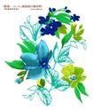 艳丽色花纹0014,艳丽色花纹,人物,蓝绿色系