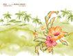 艳丽色花纹0041,艳丽色花纹,人物,椰林 背景 艳花