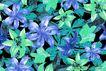 艳丽色花纹0052,艳丽色花纹,人物,花丛 层次鲜明 油画