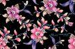 艳丽色花纹0055,艳丽色花纹,人物,紫色叶片 盛开 争艳