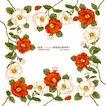 花纹边框0064,花纹边框,人物,红花 花包 叶子