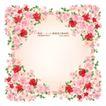 花纹边框0065,花纹边框,人物,粉红 繁花 内斜方形