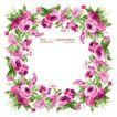 花纹边框0073,花纹边框,人物,高雅花式 紫红花盘 簇拥一起