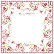 花纹边框0080,花纹边框,人物,卷曲外框 郁金香花朵 粉色郁金香