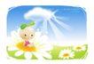 豆豆娃娃0027,豆豆娃娃,人物,云层 光芒 鲜花