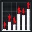 数据指数表0097,数据指数表,金融,红色人影 黑色背景色 白色柱形图