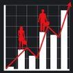 数据指数表0099,数据指数表,金融,红色人影 黑色背影 数据分析图