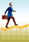 统计图形0096,统计图形,金融,公文包 行走 商业人士