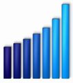 统计图形0100,统计图形,金融,颜色 渐弯色 深蓝色