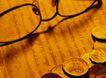 投资理财0104,投资理财,金融,眼镜 英文 钱币