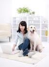 女性宠物0051,女性宠物,生活方式,地毯 女主人 庞物狗