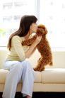 女性宠物0054,女性宠物,生活方式,亲吻 在沙发上 生活