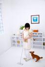 女性宠物0055,女性宠物,生活方式,拖地 壁画 围巾