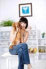 女性宠物0062,女性宠物,生活方式,宠物 乖巧 开心
