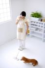 女性宠物0080,女性宠物,生活方式,家务 劳动 拖地