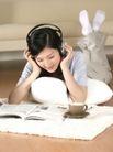 女性居家休闲0013,女性居家休闲,生活方式,看书 音乐 咖啡