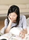 女性居家休闲0015,女性居家休闲,生活方式,黑色 垂发 阅读