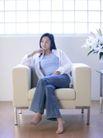 女性居家休闲0018,女性居家休闲,生活方式,斜靠 沙发 二郎腿