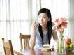 女性居家休闲0046,女性居家休闲,生活方式,椅子 吃早餐 点心