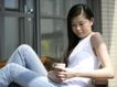 女性居家休闲0049,女性居家休闲,生活方式,窗边 喝咖啡 长发女孩