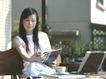 女性居家休闲0050,女性居家休闲,生活方式,屋外 桌子 茶杯