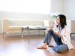 女性居家休闲0062,女性居家休闲,生活方式,饮品 沙发 卧室