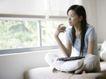 女性居家休闲0066,女性居家休闲,生活方式,窗户 被单 休闲
