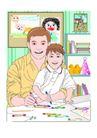 都市生活0068,都市生活,生活方式,书房 学习 绘画