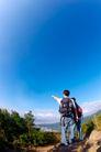 大自然环保0044,大自然环保,植物,天空 山上 旅游者