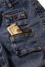 牛仔服特写0097,牛仔服特写,静物,裤袋 纸片 衣饰