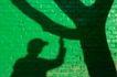 物件创意特写0074,物件创意特写,静物,绿墙 人树 黑影