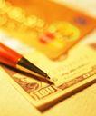 生活物件0017,生活物件,静物,圆珠笔 金色 纸币