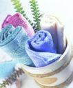 生活物件0047,生活物件,静物,日用品 毛巾 植物