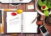 商业0096,商业,实用分层素材,书本 手机 叶片