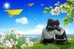 商业0119,商业,实用分层素材,孩子 花朵 阳光
