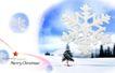 圣诞0005,圣诞,实用分层素材,雪花 松树 雪域