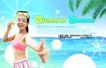 夏天0011,夏天,实用分层素材,海边 游泳衣 竖起大拇指 清爽美女