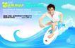 夏天0012,夏天,实用分层素材,运动男孩 冲浪运动 活力小子