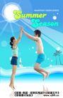 夏天0015,夏天,实用分层素材,小情侣 短裤 跳起来 阳光照射