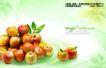 水果0010,水果,实用分层素材,黄嫩 苹果 带叶