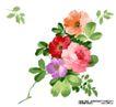 瓷器花纹0004,瓷器花纹,实用分层素材,花枝 绿叶 衬托