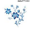 瓷器花纹0007,瓷器花纹,实用分层素材,蓝色 花草 招摇